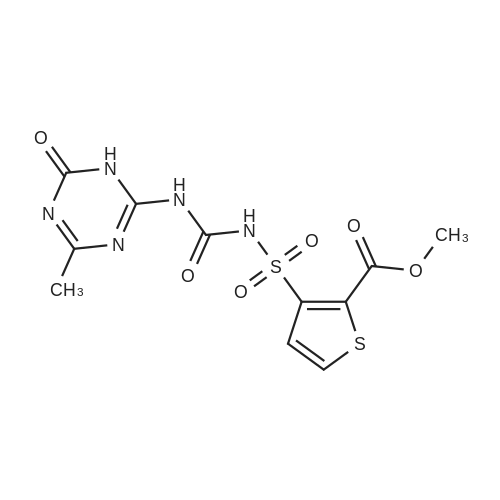 Methyl 3-(N-((4-methyl-6-oxo-1,6-dihydro-1,3,5-triazin-2-yl)carbamoyl)sulfamoyl)thiophene-2-carboxylate