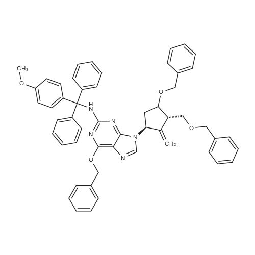 6-(Benzyloxy)-9-((1S,3S)-4-(benzyloxy)-3-((benzyloxy)methyl)-2-methylenecyclopentyl)-N-((4-methoxyphenyl)diphenylmethyl)-9H-purin-2-amine