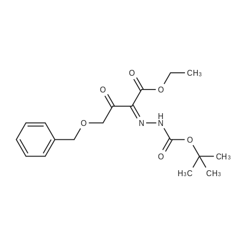 tert-Butyl 2-(4-(benzyloxy)-1-ethoxy-1,3-dioxobutan-2-ylidene)hydrazinecarboxylate