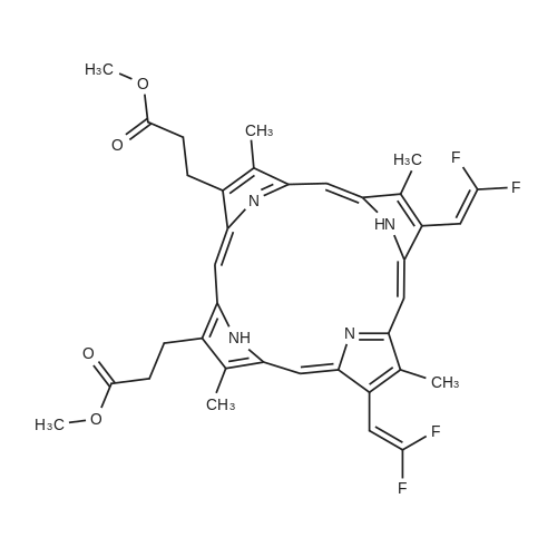 7,12-Bis(2,2-Difluoroethenyl)-3,8,13,17-Tetramethyl-21H,23H-Porphine-2,18-Dipropanoic Acid Dimethyl Ester