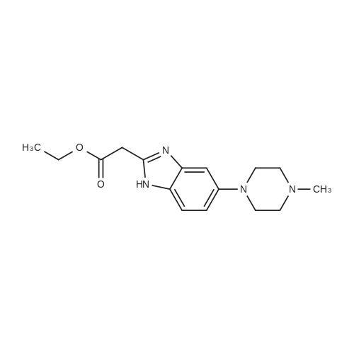 Ethyl 2-(5-(4-methylpiperazin-1-yl)-1H-benzo[d]imidazol-2-yl)acetate
