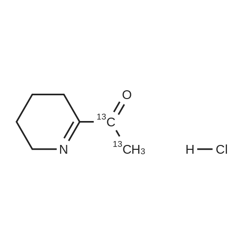 1-(3,4,5,6-tetrahydropyridin-2-yl)ethan-1-one-1,2-13C2 hydrochloride