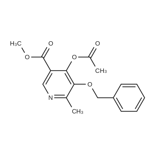 Methyl 4-acetoxy-5-(benzyloxy)-6-methylnicotinate