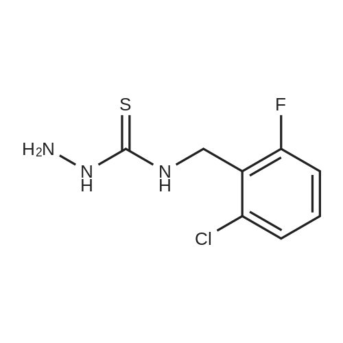 N-(2-Chloro-6-fluorobenzyl)hydrazinecarbothioamide