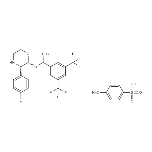 (2R,3S)-2-((R)-1-(3,5-Bis(trifluoromethyl)phenyl)ethoxy)-3-(4-fluorophenyl)morpholine 4-methylbenzenesulfonate