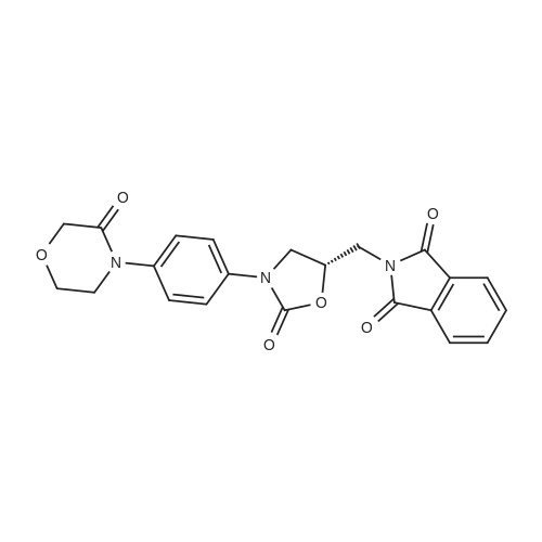 (S)-2-((2-Oxo-3-(4-(3-oxomorpholino)phenyl)oxazolidin-5-yl)methyl)isoindoline-1,3-dione