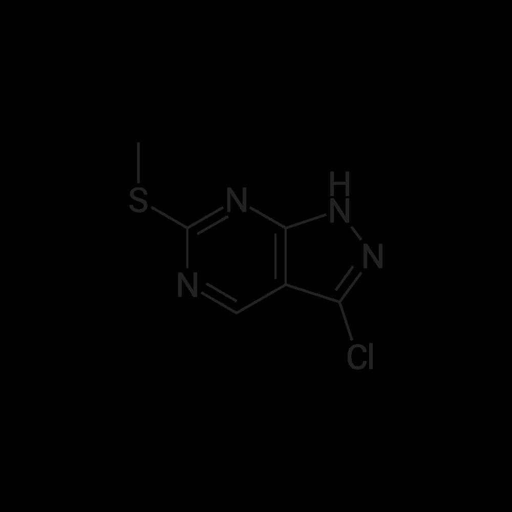 3-Chloro-6-(methylthio)-1H-pyrazolo[3,4-d]pyrimidine