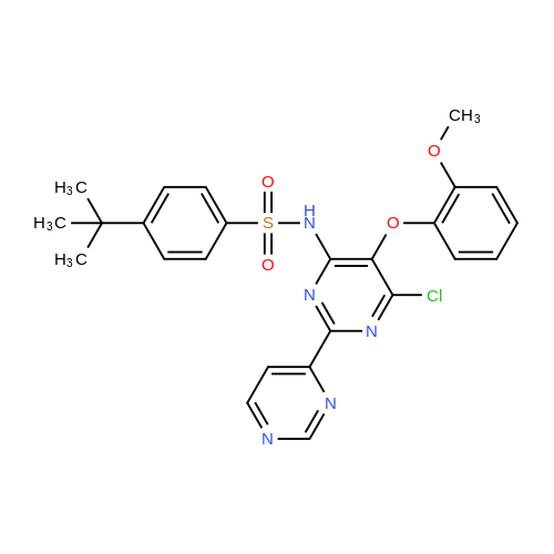 4-tert-Butyl-N-(6-chloro-5-(2-methoxyphenoxy)-2,2'-bipyrimidin-4-yl)benzenesulfonamide
