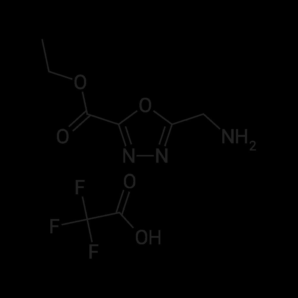 Ethyl 5-(aminomethyl)-1,3,4-oxadiazole-2-carboxylate 2,2,2-trifluoroacetate