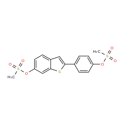 4-(6-((Methylsulfonyl)oxy)benzo[b]thiophen-2-yl)phenyl methanesulfonate