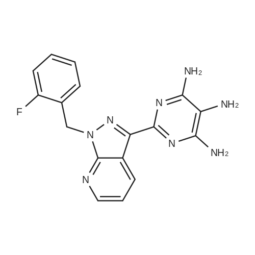 2-(1-(2-Fluorobenzyl)-1H-pyrazolo[3,4-b]pyridin-3-yl)pyrimidine-4,5,6-triamine