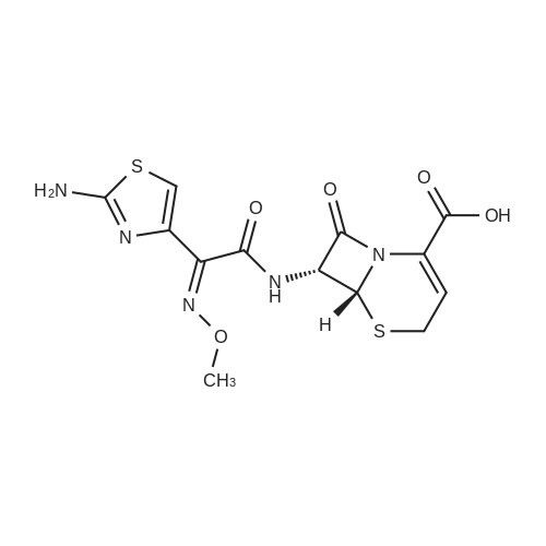 (6R,7R)-7-((Z)-2-(2-Aminothiazol-4-yl)-2-(methoxyimino)acetamido)-8-oxo-5-thia-1-azabicyclo[4.2.0]oct-2-ene-2-carboxylic acid