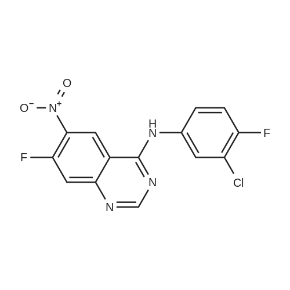 N-(3-Chloro-4-fluorophenyl)-7-fluoro-6-nitroquinazolin-4-amine