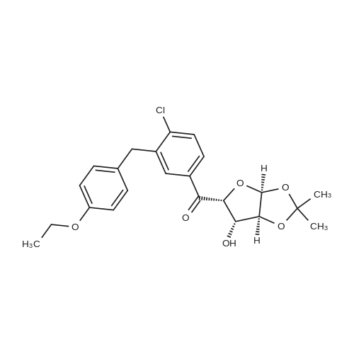 (4-Chloro-3-(4-ethoxybenzyl)phenyl)((3aS,5R,6S,6aS)-6-hydroxy-2,2-dimethyltetrahydrofuro[2,3-d][1,3]dioxol-5-yl)methanone