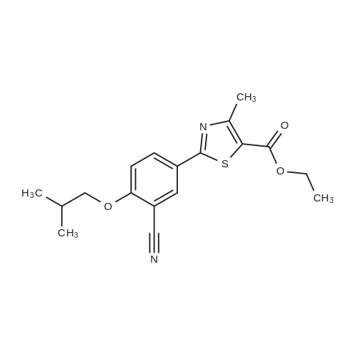 Ethyl 2-(3-cyano-4-isobutoxyphenyl)-4-methyl-5-thiazolecarboxylate
