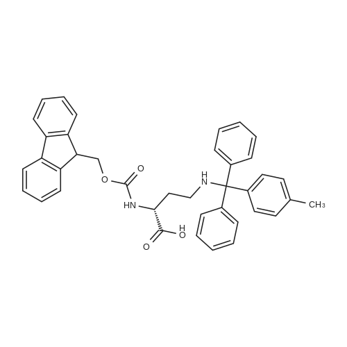 (R)-2-((((9H-Fluoren-9-yl)methoxy)carbonyl)amino)-4-((diphenyl(p-tolyl)methyl)amino)butanoic acid