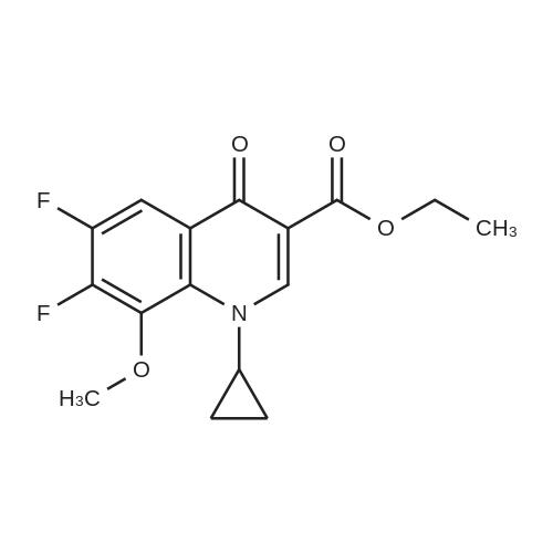 Ethyl 1-cyclopropyl-6,7-difluoro-8-methoxy-4-oxo-1,4-dihydroquinoline-3-carboxylate