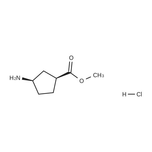 (1S,3R)-Methyl 3-aminocyclopentanecarboxylate hydrochloride