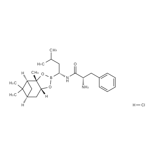 (S)-2-Amino-N-((R)-3-methyl-1-((3aS,4S,6S,7aR)-3a,5,5-trimethylhexahydro-4,6-methanobenzo[d][1,3,2]dioxaborol-2-yl)butyl)-3-phenylpropanamide hydrochloride