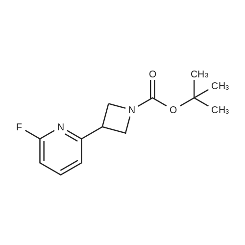 tert-Butyl 3-(6-fluoropyridin-2-yl)azetidine-1-carboxylate