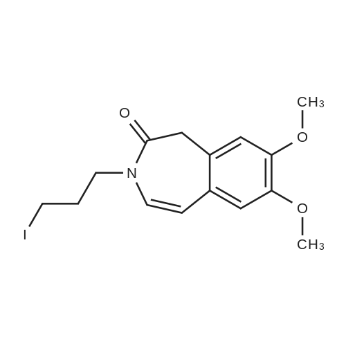 7,8-Dimethoxy-3-(3-iodopropyl)-1,3-dihydro-2H-3-benzazepin-2-one