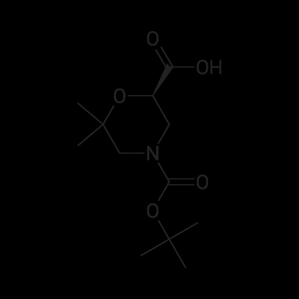 (R)-4-(tert-Butoxycarbonyl)-6,6-dimethylmorpholine-2-carboxylic acid