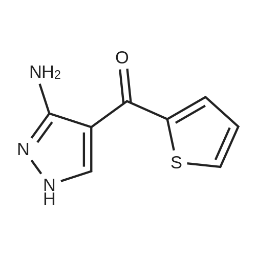 (3-Amino-1H-pyrazol-4-yl)(thiophen-2-yl)methanone