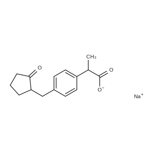 Sodium 2-(4-((2-oxocyclopentyl)methyl)phenyl)propanoate
