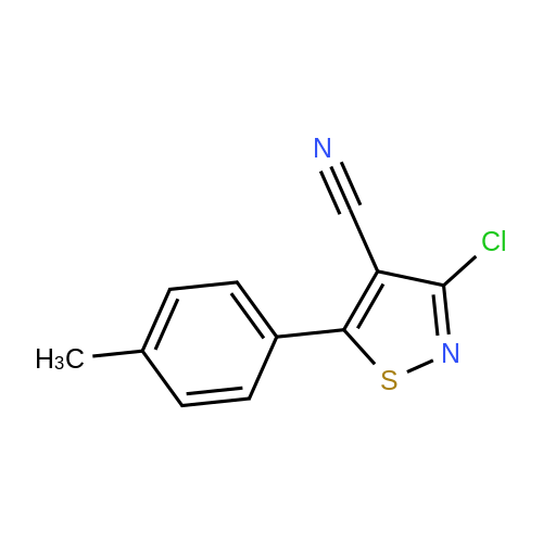 3-Chloro-5-(p-tolyl)isothiazole-4-carbonitrile