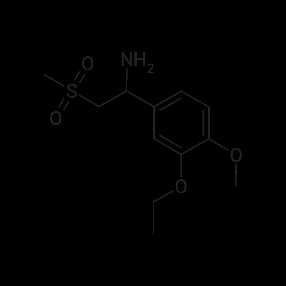 1-(3-Ethoxy-4-methoxyphenyl)-2-(methylsulfonyl)ethanamine