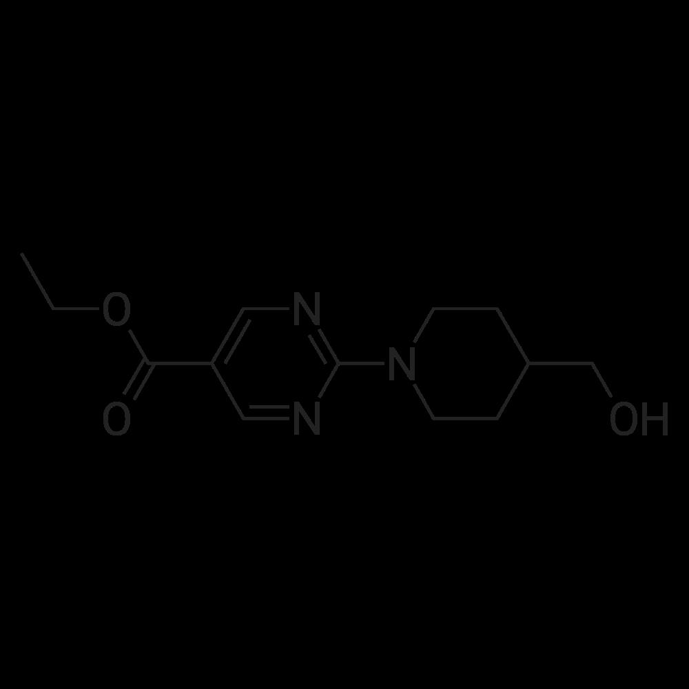 Ethyl 2-(4-(hydroxymethyl)piperidin-1-yl)pyrimidine-5-carboxylate