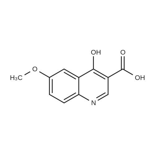4-Hydroxy-6-methoxyquinoline-3-carboxylic acid