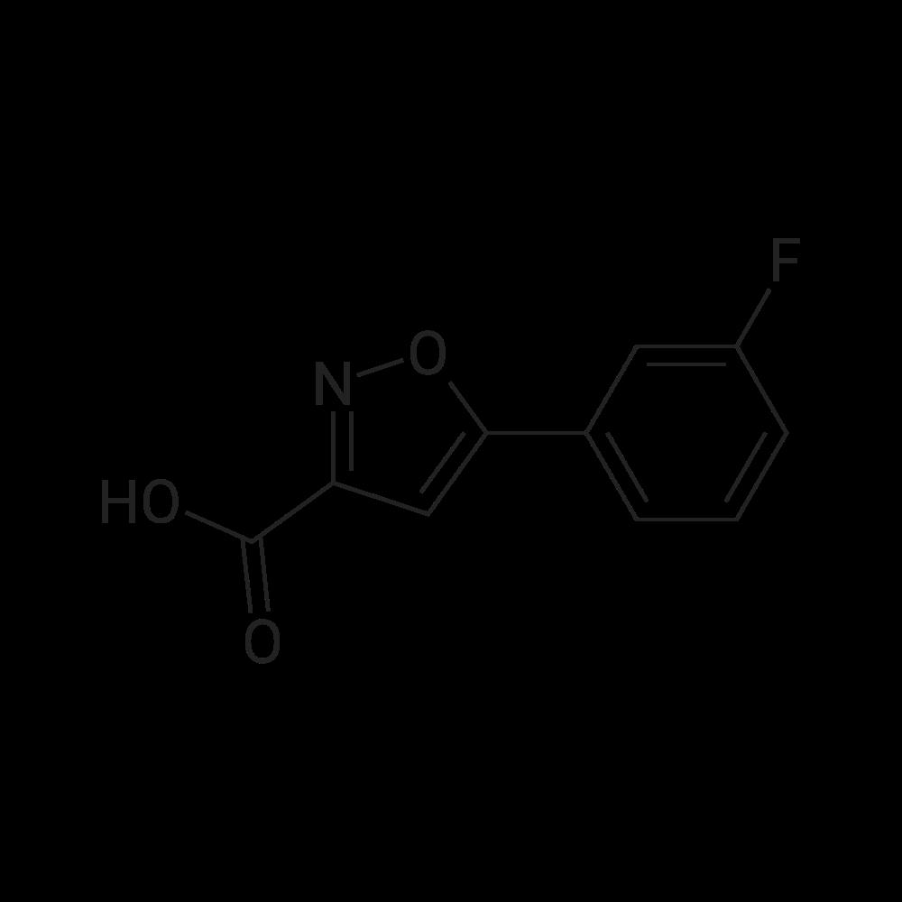 5-(3-Fluorophenyl)isoxazole-3-carboxylic acid