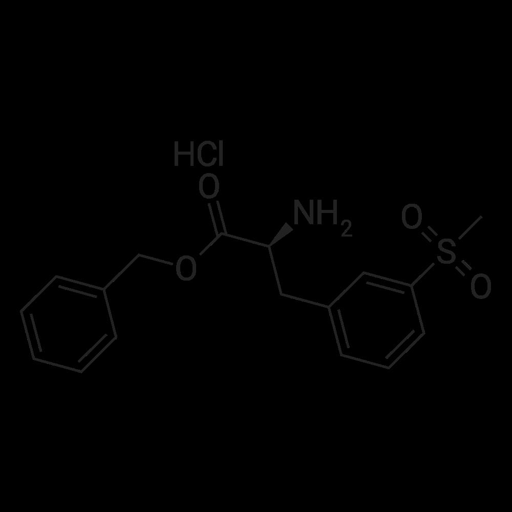 (S)-Benzyl 2-amino-3-(3-(methylsulfonyl)phenyl)propanoate hydrochloride