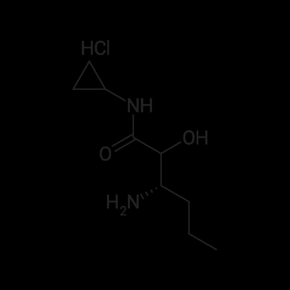 (3S)-3-Amino-N-cyclopropyl-2-hydroxyhexanamide hydrochloride