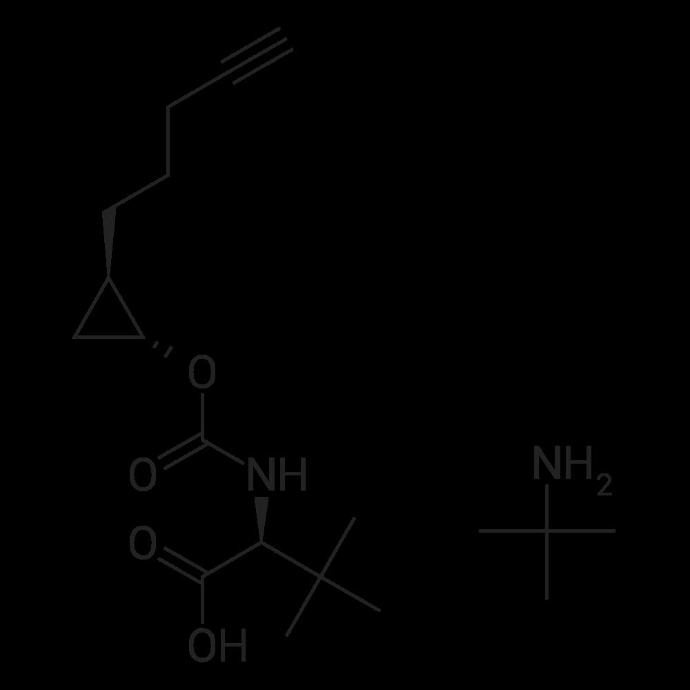 2-Methylpropan-2-amine (S)-3,3-dimethyl-2-((((1R,2R)-2-(pent-4-yn-1-yl)cyclopropoxy)carbonyl)amino)butanoate