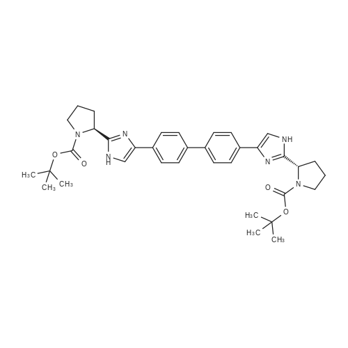 BIs(2-methyl-2-propanyl) (2S,2'S)-2,2'-[4,4'-biphenyldiylbis(1H-imidazole-4,2-diyl)]di(1-pyrrolidinecarboxylate)