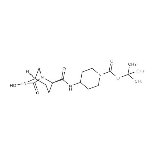 tert-Butyl 4-((1R,2S,5R)-6-hydroxy-7-oxo-1,6-diazabicyclo[3.2.1]octane-2-carboxamido)piperidine-1-carboxylate