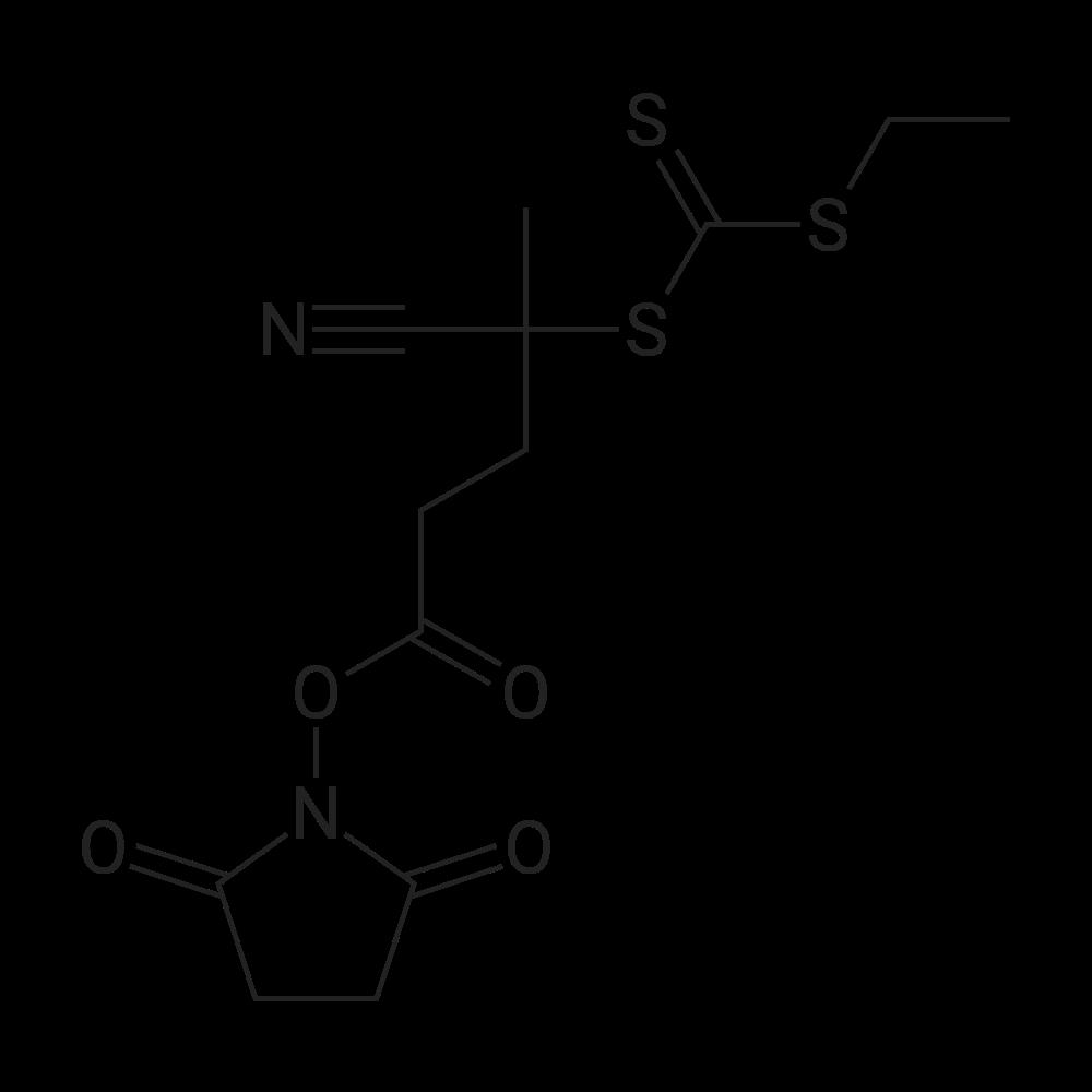 2,5-Dioxopyrrolidin-1-yl 4-cyano-4-(((ethylthio)carbonothioyl)thio)pentanoate