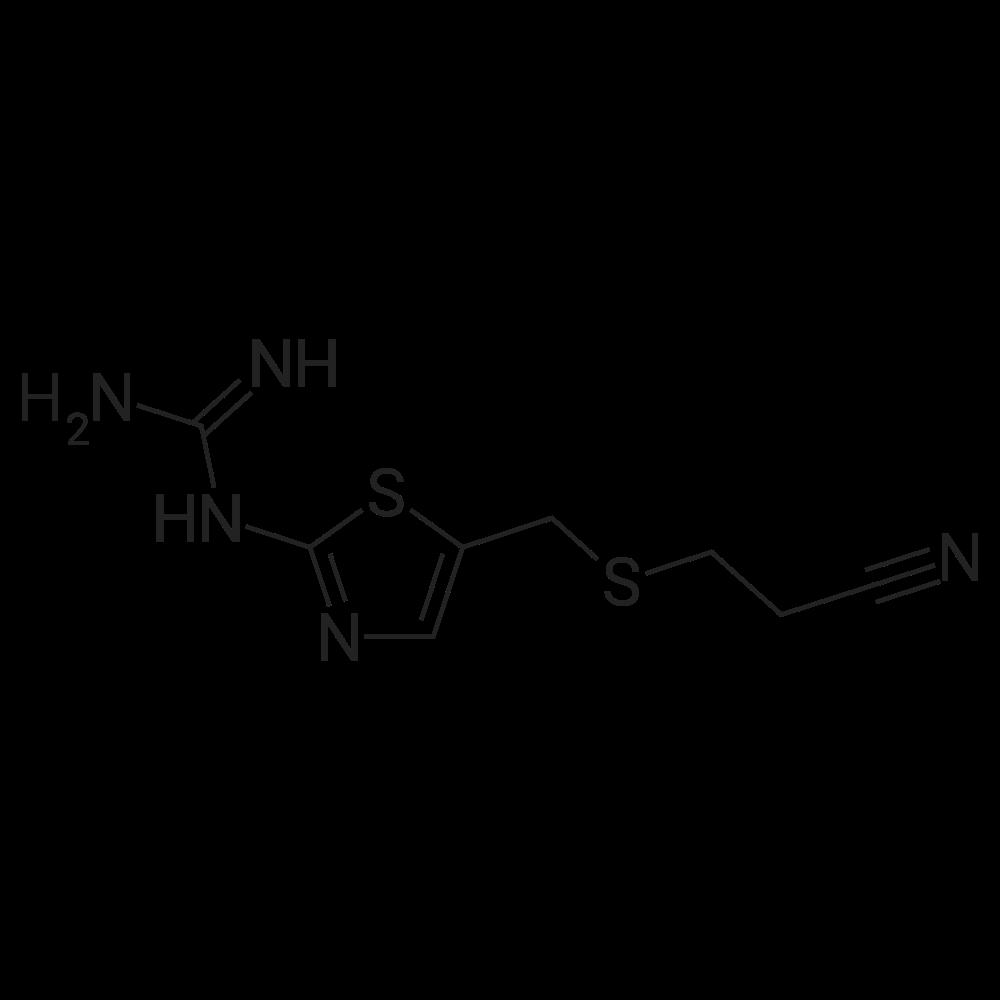 1-(5-(((2-Cyanoethyl)thio)methyl)thiazol-2-yl)guanidine