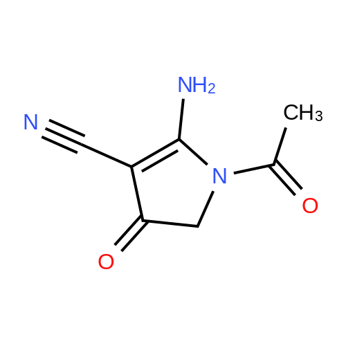 1-Acetyl-2-amino-4,5-dihydro-4-oxo-1H-pyrrole-3-carbonitrile