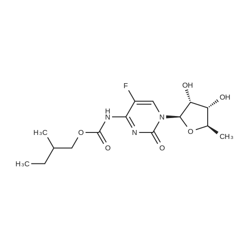2-Methylbutyl (1-((2R,3R,4S,5R)-3,4-dihydroxy-5-methyltetrahydrofuran-2-yl)-5-fluoro-2-oxo-1,2-dihydropyrimidin-4-yl)carbamate