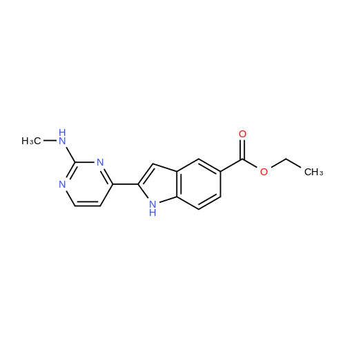 Ethyl 2-(2-(methylamino)pyrimidin-4-yl)-1H-indole-5-carboxylate