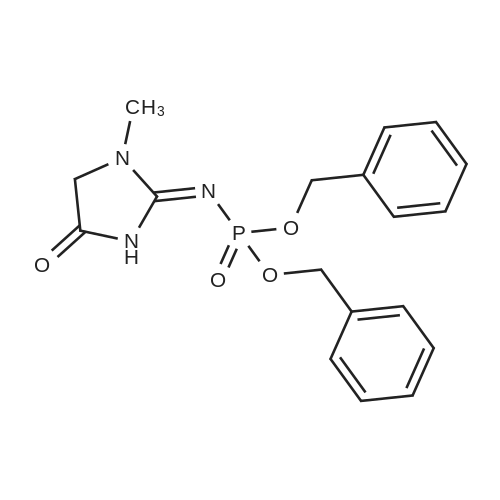 Dibenzyl (1-methyl-4-oxoimidazolidin-2-ylidene)phosphoramidate