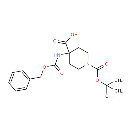 4-(((Benzyloxy)carbonyl)amino)-1-(tert-butoxycarbonyl)piperidine-4-carboxylic acid