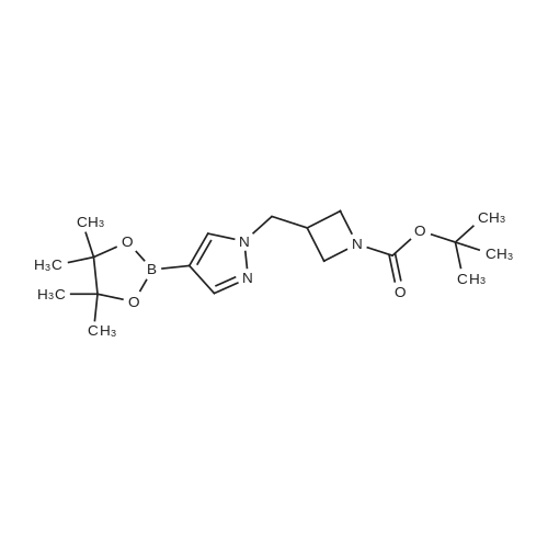 tert-Butyl 3-((4-(4,4,5,5-tetramethyl-1,3,2-dioxaborolan-2-yl)-1H-pyrazol-1-yl)methyl)azetidine-1-carboxylate