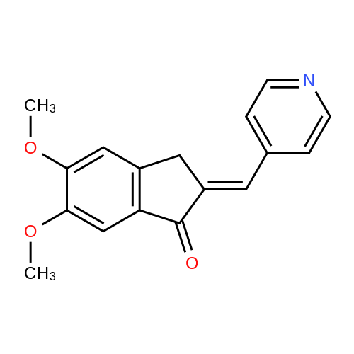 5,6-Dimethoxy-2-(pyridin-4-ylmethylene)-2,3-dihydro-1H-inden-1-one