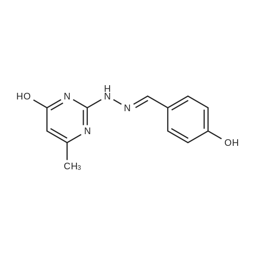 2-(2-(4-Hydroxybenzylidene)hydrazinyl)-6-methylpyrimidin-4-ol
