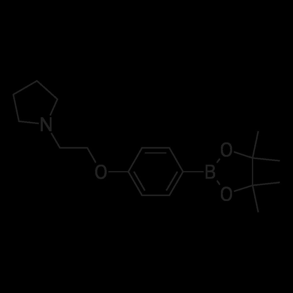 1-(2-(4-(4,4,5,5-Tetramethyl-1,3,2-dioxaborolan-2-yl)phenoxy)ethyl)pyrrolidine