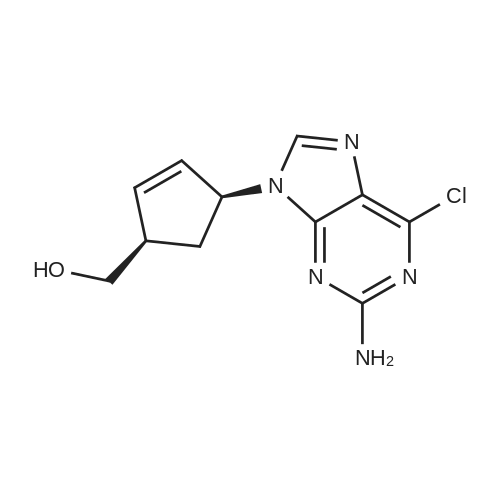 ((1R,4S)-4-(2-Amino-6-chloro-9H-purin-9-yl)cyclopent-2-en-1-yl)methanol